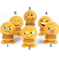 Pajangan dashbord mobil smile goyang kepala,smile exspresi wajah