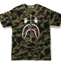 b289e1157834 kaos bape 1st camo shark tee green original t-shirt hype - hijau tua,