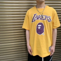 BAPE X MITCHELL & NESS Lakers Tee