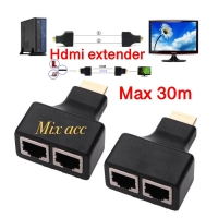 HDMI Extender Max 30M Repeater 3D Double RJ45 CAT5 CAT6 LAN Ethernet