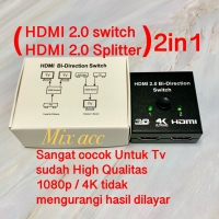 HDMI SPLITTER 2 PORT / HDMI SWITCHER 1X2 4K HDMI Bi Directional 2IN1