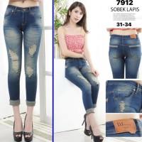 Celana Jeans Wanita 7/9 / Celana Cewek Ripped Jeans Sz 31-34 / 7912