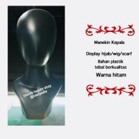 Patung Manekin Kepala Wanita Warna Hitam
