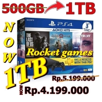 PS4 SLIM 500 GB JET BLACK (CUH-2106A) GARANSI RESMI SONY INDONESIA