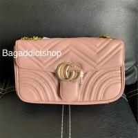 f6d65b481767 Jual Tas Gucci Marmont Leather Nude pink Mirror 1:1 Ori leather VIP