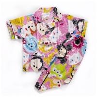 Setelan Baju tidur piyama anak motif gambar Tsum Tsum
