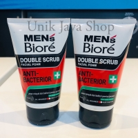 Biore Mens Anti-Bacterior Double Scrub Facial Foam 100ml