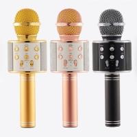Mic karaoke WS 858/wireless bluetooth microphone