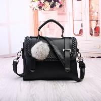 tas tangan jinjing hitam glossy mirip valentino cnk mango wanita korea