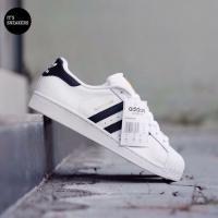 100% Original | Adidas Superstar Foundation White 3strip Black