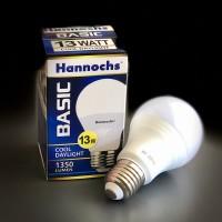 Lampu LED Hannochs 13W Putih dan Kuning | Cool Daylight dan Warm White