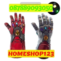 SARUNG TANGAN INFINITY Gauntlet IRON MAN LED, DENGAN LAMPU LED Cosplay