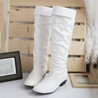 Boots Wanita Half Knee (White-38)