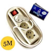 Stop Kontak 3 Lubang Kabel 5 Meter | Colokan Terminal Dexicon L3 5M