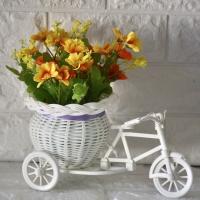 Pot Sepeda Rotan Bunga Daisy