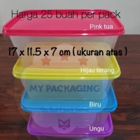 Food box / Container Microwave/ Wadah plastik 1000ml (Tutup warna)