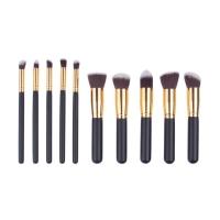 Gujhui Premium Black Gold 10 in 1 Make Up Brush Set