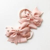 Pinwheel Beaded Bow nylon headband (warna tulis di message)