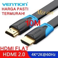 [10M - B02] Vention Kabel Flat HDMI v1.4b Full HD 3D Hdmi Flat 10m B02