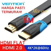 [5M - B02] Vention Kabel Flat HDMI v1.4b Full HD 3D Hdmi Flat 5 m B02