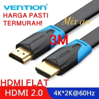 [3M - B02] Vention Kabel Flat HDMI v1.4b Full HD 3D Hdmi Flat 3 m B02