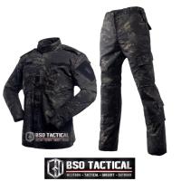 BDU Tactical Combat Shirt Battle Dress Uniform Multicam Black Import