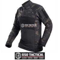 Kaos Tactical Airsoft Combat Shirt Long Sleeve Outdoor Shirt Import