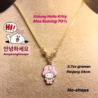 Kalung Baby / Kids Hello Kitty Emas Kuning 70% asli Emas