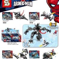 SY 1273 Mini Set Spiderman 4 in 1 Fusion Venom Mecha