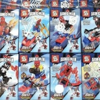 SY 1272 Minifigures Spiderman 8 in 1