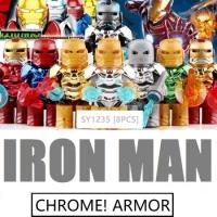 SY 1235 Minifigures Ironman Chrome Armor Set isi 8
