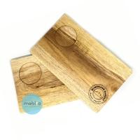 [FREE GRAFIR] Wooden Serving Plate / Piring kayu besar / Piring cafe