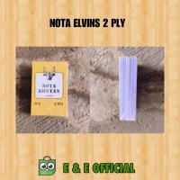 NOTA 2 PLY ELVINS / NOTA MURAH