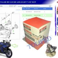 1WD-H4314-00 BULB HEADLIGHT R25, bohlam lampu depan
