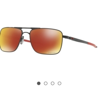 Oakley Sunglass Gauge 6 | OO 6038-0457 | Polished Black Prizm Polarize