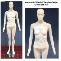 Manekin Full Body Wanita Fiberglass Glossy Original