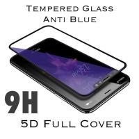 Tempered Glass Anti Blue 5D Full Cover Full Lem Oppo A7