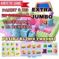 Paket Pasir Ajaib Extra Jumbo 65 Cetakan 2 kg Pasir Sand