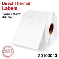 Label Sticker thermal barcode Direct Stiker 1 line uk 100x150mm 500pcs