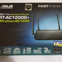 ASUS RT-AC1200G+ AC1200 Dual-Band Wifi Router with 5dBi Antena
