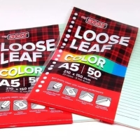 Loose Leaf A5 Rainbow/Color Big Boss isi 50 lembar