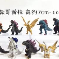 Figure Godzilla shin Godzila Mechagodzilla King Ghidorah Set isi 10 Pc