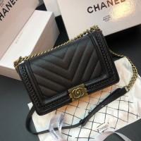 Chanel Boy Caviar Kepang