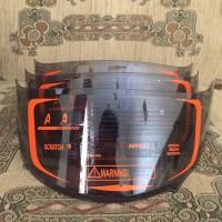Flat Visor Dark Smoke RC7 R10 K2Rider Merk Handarb