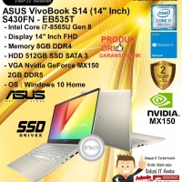 ASUS VivoBook S14 S430FN-Eb535T Core i7-8565U/8GB/512GB/VGA/WIN10HOME