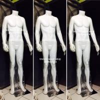 Manekin Pria Full Body Headless Premium Jari Karet