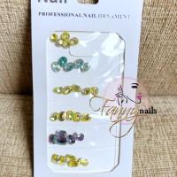 Japan nails aksesosir accesories round diamond swarovski round nailart