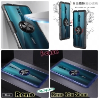 New i-case Oppo Reno / Reno 10x Zoom Hybrid Ring Stand Clear