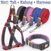 Dog harness leash Size L tali tuntun anjing pet harness pet leash