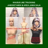 JNE TRUCKING Manekin Torso Wanita Setengah Badan Set Kaki